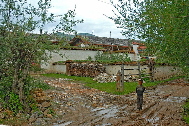 Very simple personal living condition in the Tibetan village