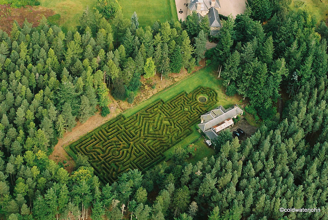 Blervie House Maze - designed by Randall Coate
