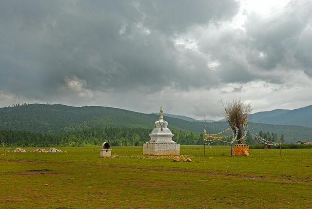 The border to the Tibetan territory in Yunnan