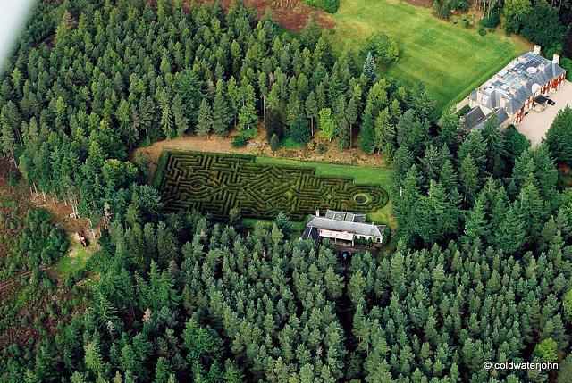 Blervie House Maze - designed by Randall Coate