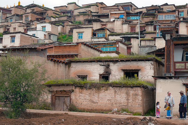 Dukezong village beside the Songzanlin Monastery