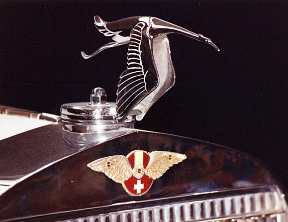 Emblème Hispano-Suiza : la cigogne