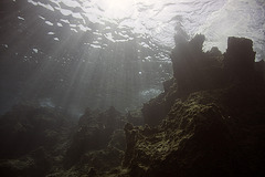 Mountains underwater