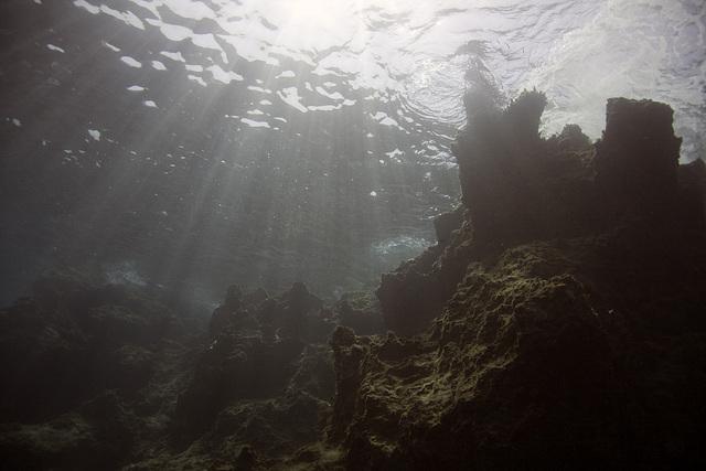 Mountains underwater