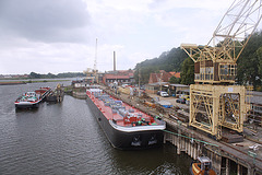 die Hitzler Werft in Lauenburg / Shipyard for river ships