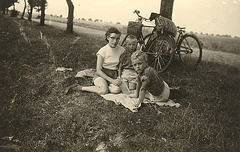 Radausflug nach Asshausen Sommer 1955