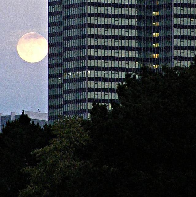 Moon over Euston