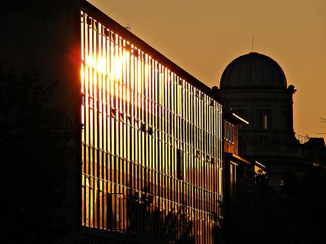 Sunset over Notting Hill Gate