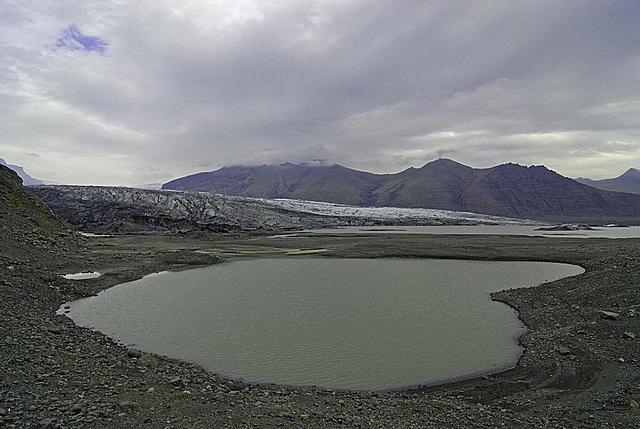 Glacial lake in Skaftafell