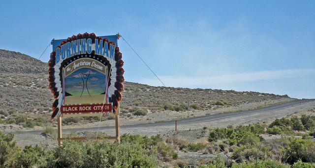 Burning Man Sign on 447 (1368)