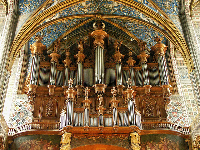 PICT10590ac France Tarn Albi St Cecile Cathedral Grand Organ