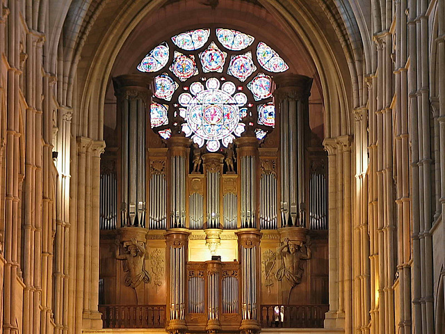 117 1798ac France Laon Cathedrale Notre Dame Grand Organ