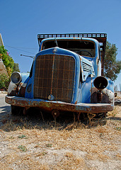 Old blue truck - 2