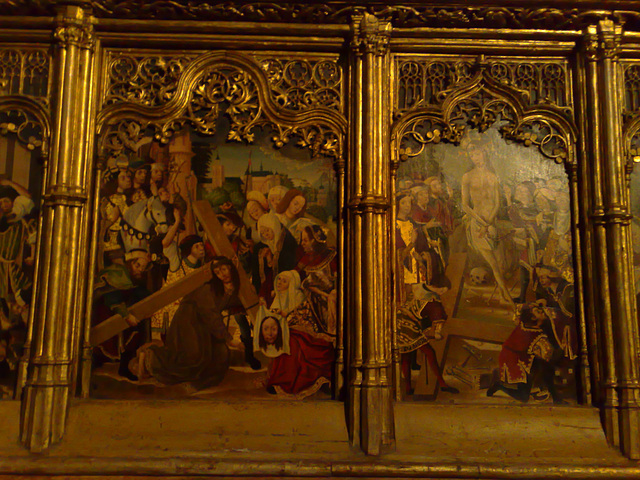 Catedral de Pamplona: detalle de retablo.