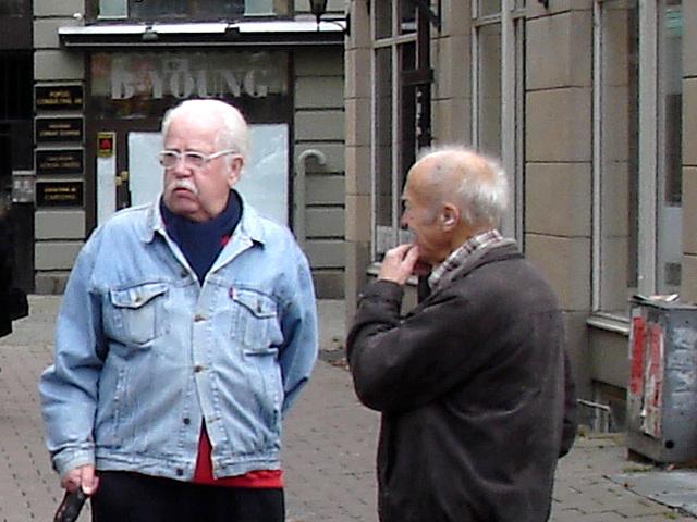 B- YOUNG elder Swedish men duo and dog