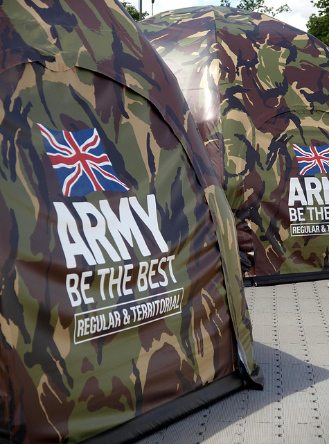 British Army Inflatable Shelters 1