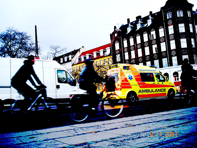Copenhagen Ambulance-  Artwork version.  November 2007.