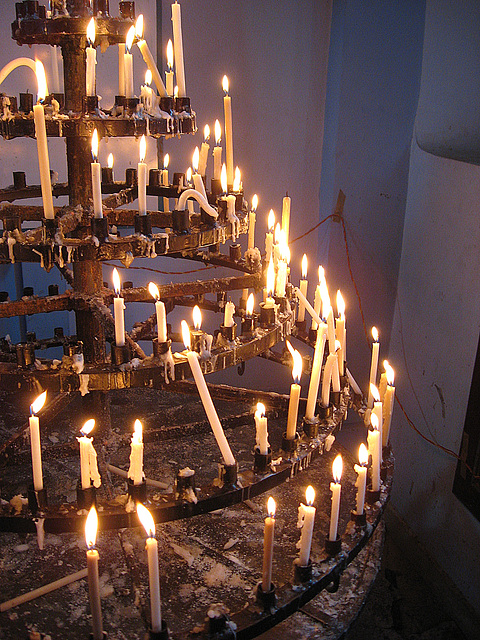 Mahe church candles