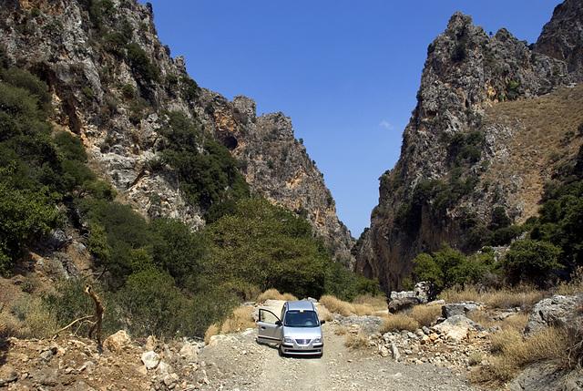 In the Mesavlia Gorge