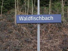 La stacio de Waldfischbach estis senoficista
