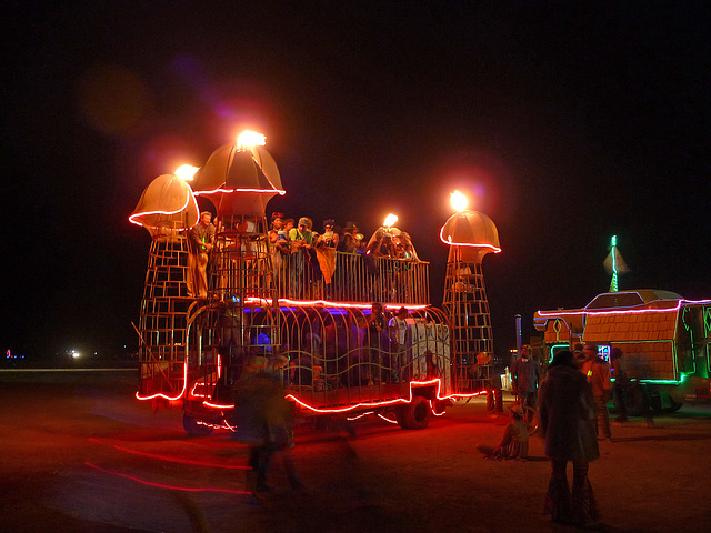 Flaming Phallus Art Car (1185)