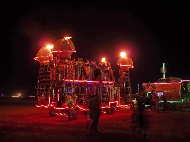 Flaming Phallus Art Car (1186)
