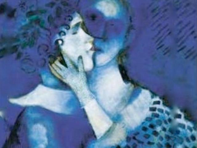 Les Amants bleus - Gli amanti azzurri, œuvre de Marc Chagall
