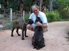 Wolfgang with Fila Brasileiros
