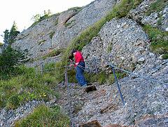 Klettersteig hoch zur Brunnenauscharte