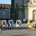 Fahrradrikschas vor der Frauenkirche