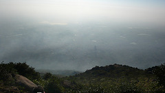 Tiruvanamalai, du sommet, à l'aube