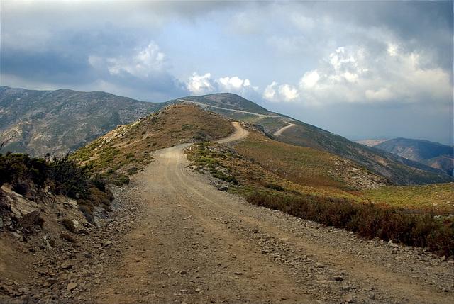 Endless road on the ridge........