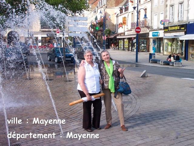 Françoise et Daniela à Mayenne