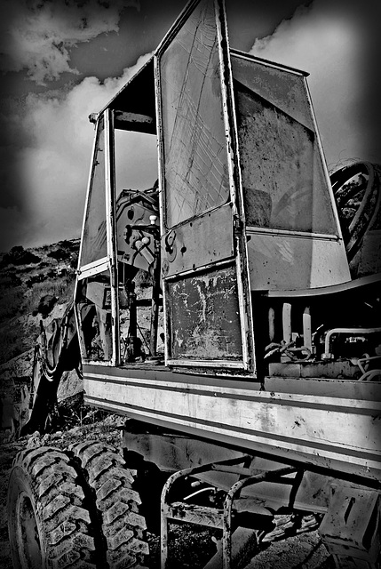 The digger cabin.....