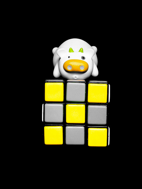 Moo ande yellow cube