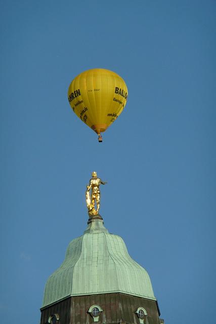 Heißluftballon - Montgolfière - über Dresden - 30.08.2008