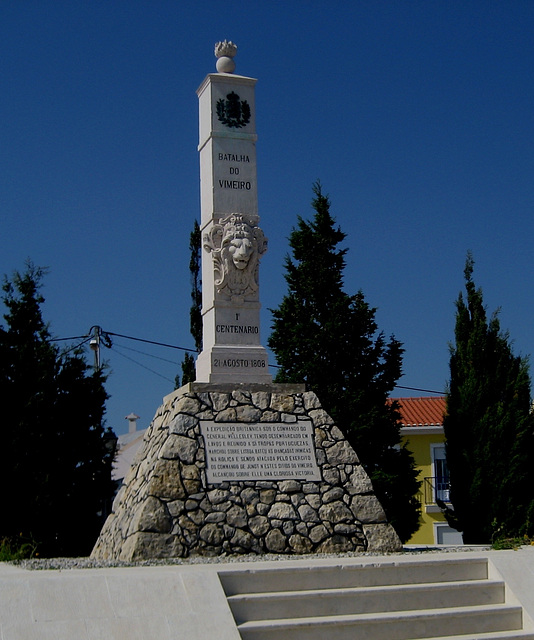 1st French Invasion of Portugal, Battle of Vimeiro, August 21, 1808, 1st Centenary Memorial (1)