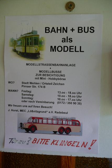 Bahn und Bus als Modell