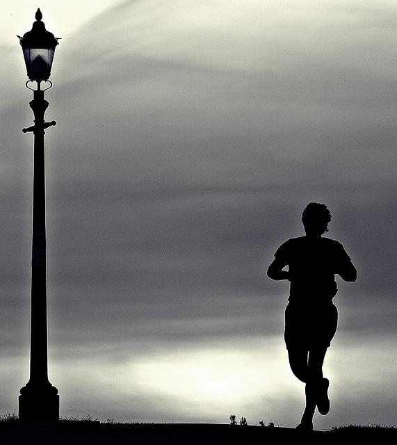 Evening jogger