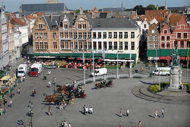 Bruges Market Square from Belfry 1