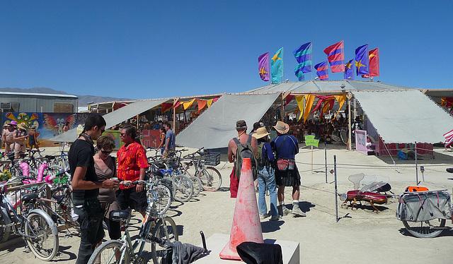 World Naked Bike Ride - Center Camp (0704)