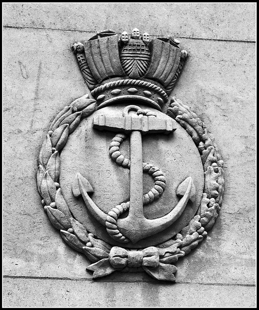 War Memorial Guildhall Square Portsmouth - RN Crest