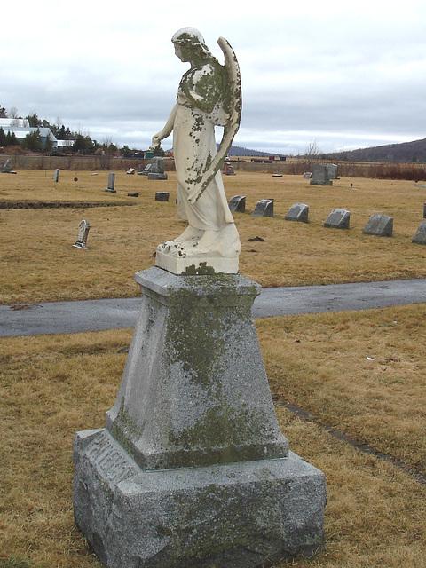 Mountain view cemetery. Saranac lake area.  NY. USA . March 29th 2009