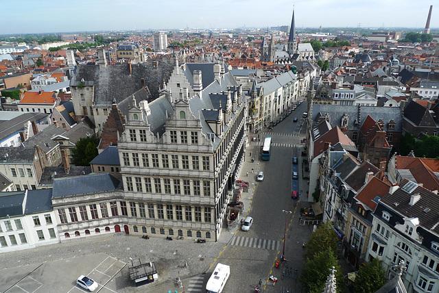 Gent view from Belfort 2
