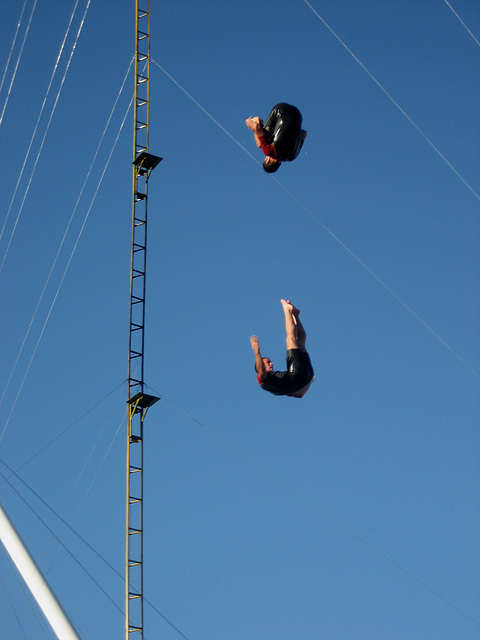 Lisboa, Festival of Oceans, double-dive (from 15 & 10 metres high)