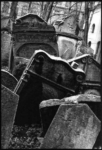 Vieux cimetière juif de Prague, Česká republika, 1995