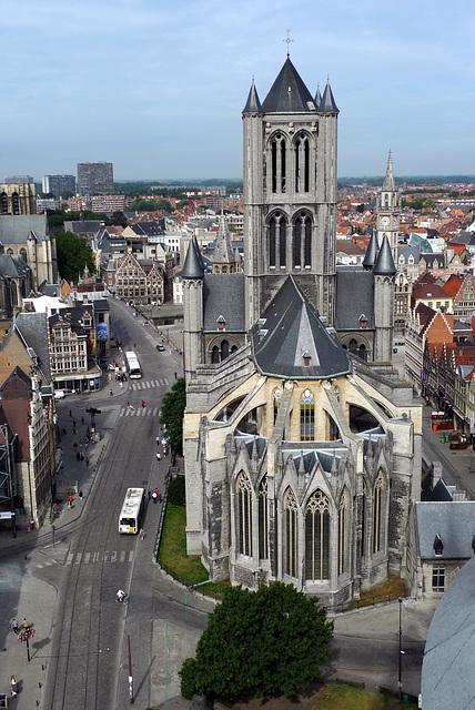 Gent Sint-Niklaaskerk from Belfort 2