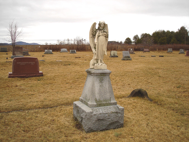 Mountain view cemetery. Saranac lake area.  NY. USA . March 29th 2009