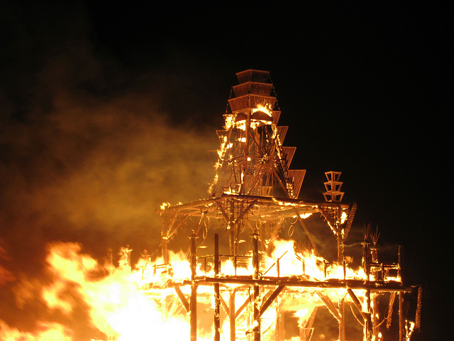 Flames Reach The Top Of The Temple (1444)