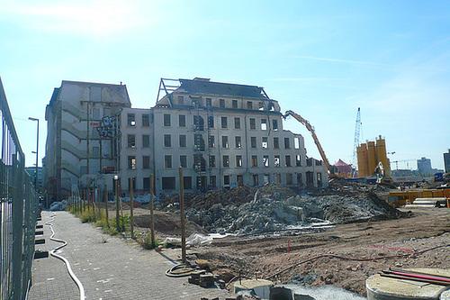 Abriss Atelierfrankfurt Ostflügel September 2008